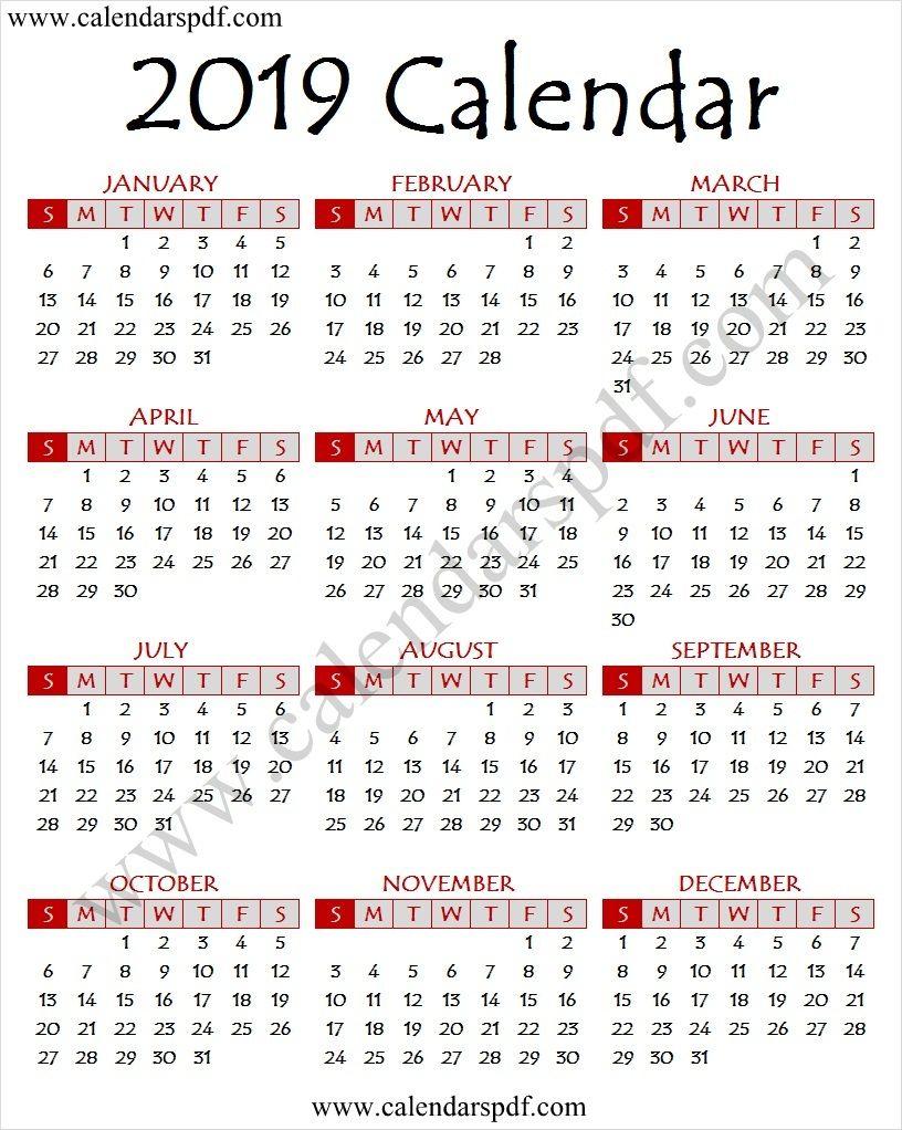 2019 Hd Calendar 2019 Calendar Pinterest Calendar 2019