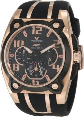 fe3c21f581b Relógio Viceroy Men s 47617-95 Rose Gold-Plated Stainless Steel and Black  Rubber Watch  Relógio  Viceroy