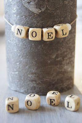 Letter Beads on string