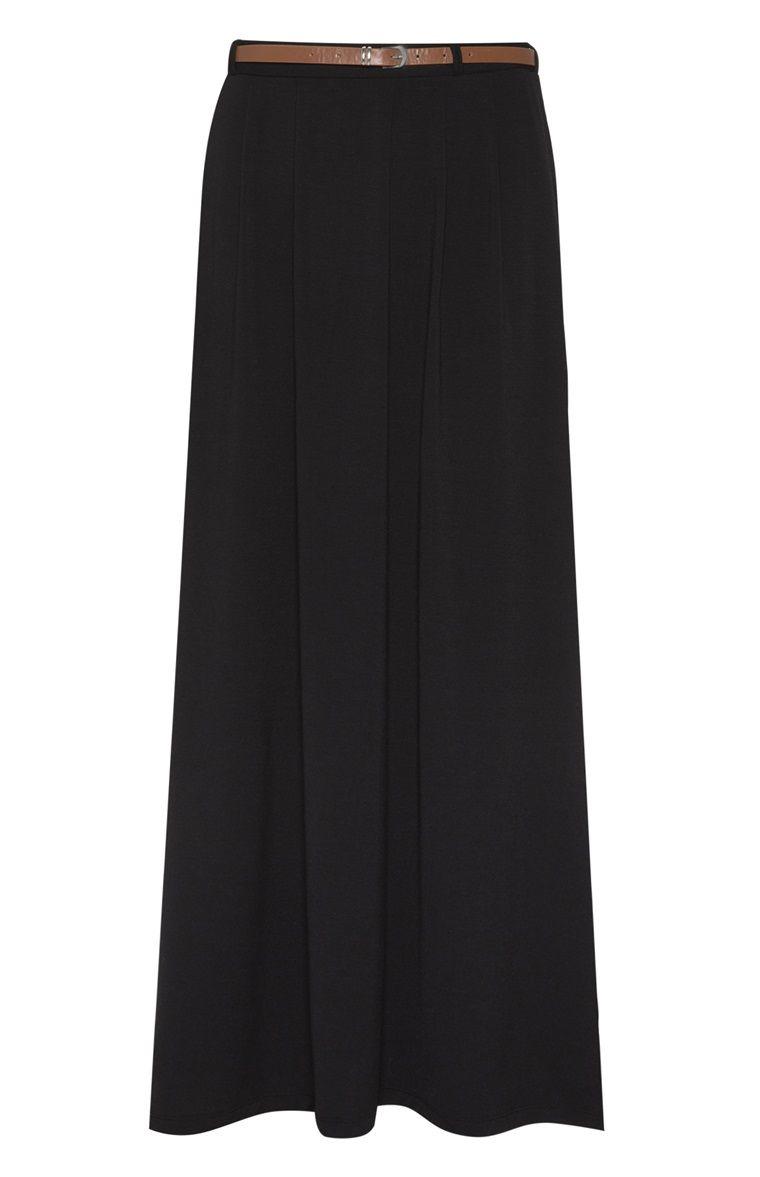 Jupe longue en jersey noire avec ceinture 10€ | Primark | Pinterest