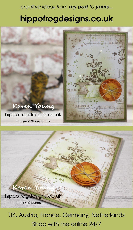 Last Week's Card & Cuppa - Floral Grunge | Birthday cards