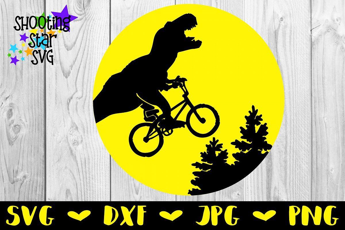 Dinosaur On Bicycle Bike Jumping Trees Svg Funny Dino Svg Ad Svg Dxf Jpg Png Digital Design Vinyl Cutter Silhouette Cameo Silh Tree Svg Svg Dinosaur