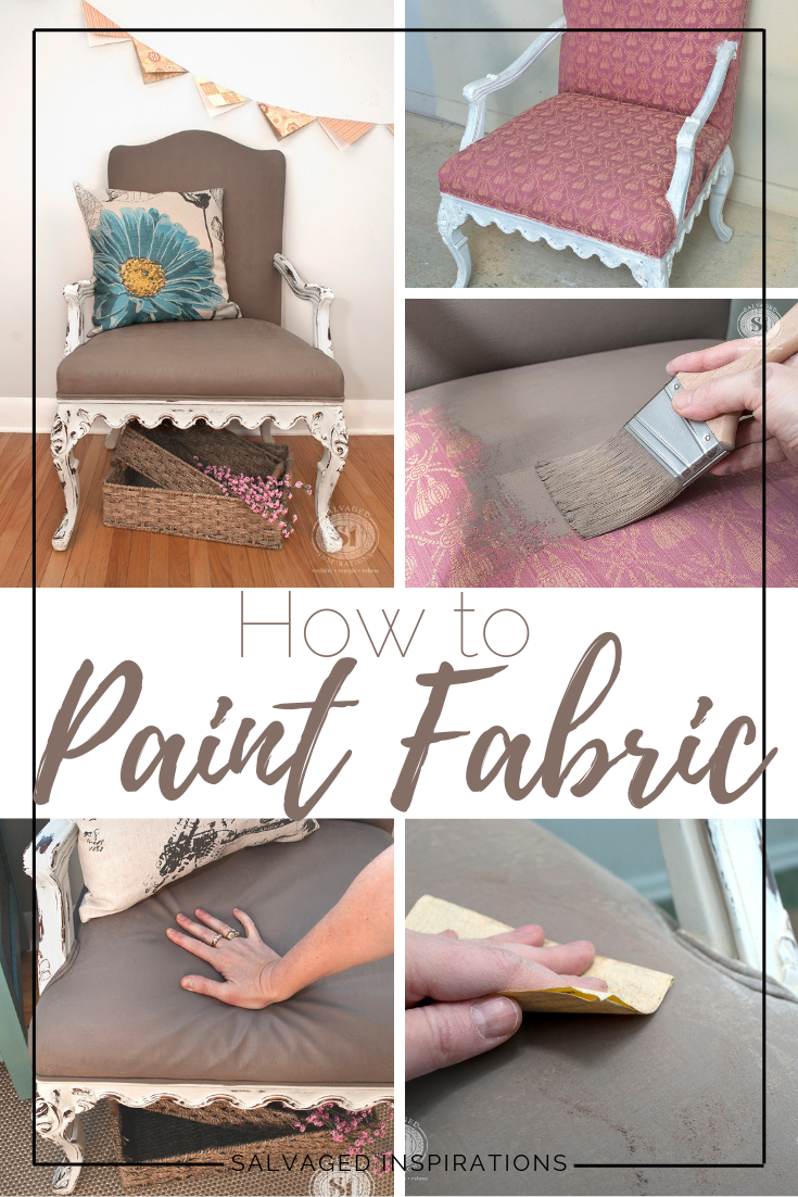 Granny Chair Makeover   How to Paint Fabric By Denise   Salvaged Inspirations #siblog #salvaged #furnituremakeover #refurbishedfurniture #paintinginspo #salvagedinspirations #furniturerescue #vintage #DIY