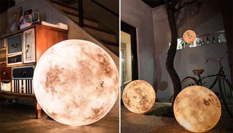 Luminária em formato de lua   IdeaFixa