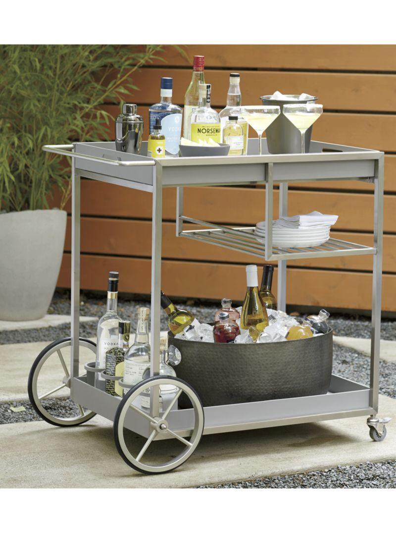 Dune Bar Cart | Products | Bar cart, Crate, barrel, Diy bar cart