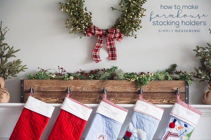 How To Make Farmhouse Stocking Holders Christmas Stocking Holder Stand Christmas Stocking Holders Christmas