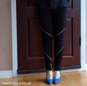 Make You Love Lee: DIY Zipper Pants