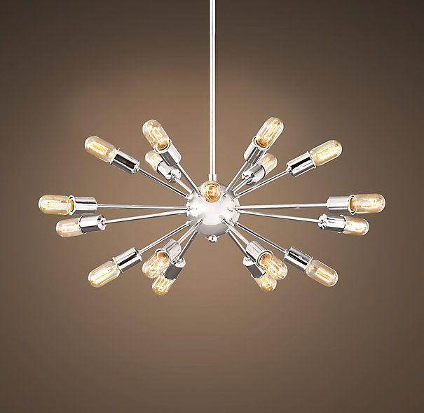 850 sputnik elliptical filament chandelier polished nickel 850 sputnik elliptical filament chandelier polished nickel dimensions overall 29 diam 15 aloadofball Gallery