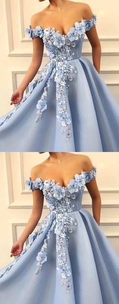 Blue Off Shoulder Appliques A-line Elagant Fairy Long Modest Beautiful Prom Dresses,PD1098 Blue Off Shoulder Appliques A-line Elagant Fairy Long Modest Beautiful Prom Dresses,PD1098 #bluepromdresses