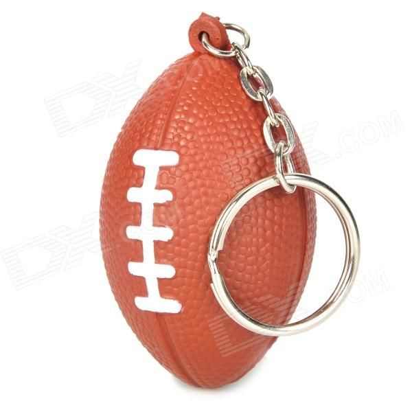 Quantity: 1 - Color: Brown - Material: Sponge + Stainless steel - Creative American football design, it's America's favorite sport - Not only a keychain but also a lovely ornament - Weight: 10g - Suitable for holding the car keys, home keys or security key, etc. - Packing list: - 1 x Keychain http://j.mp/1obiiXL