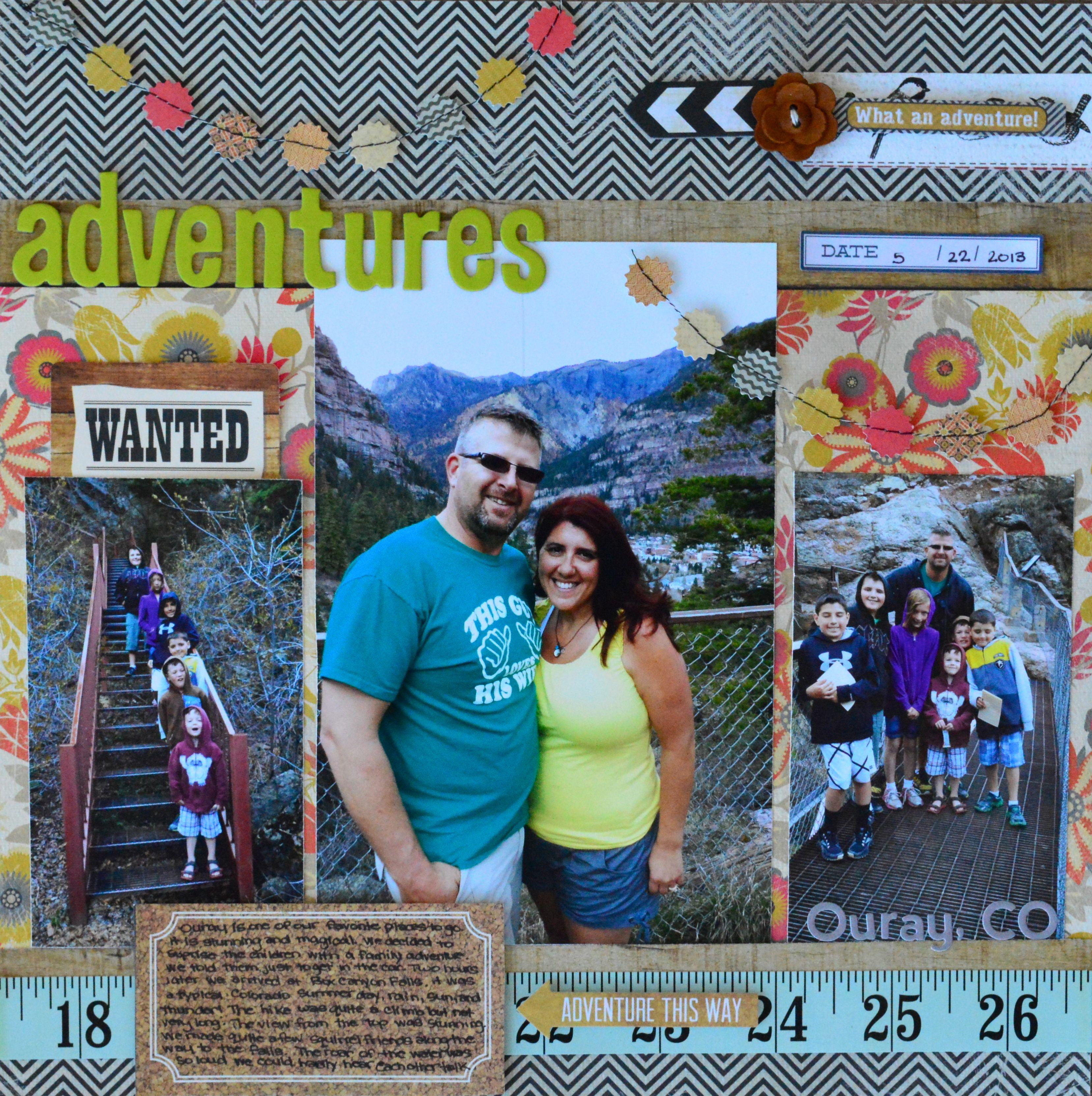 Summer vacation scrapbook ideas - Adventures Wanted Scrapbook Com