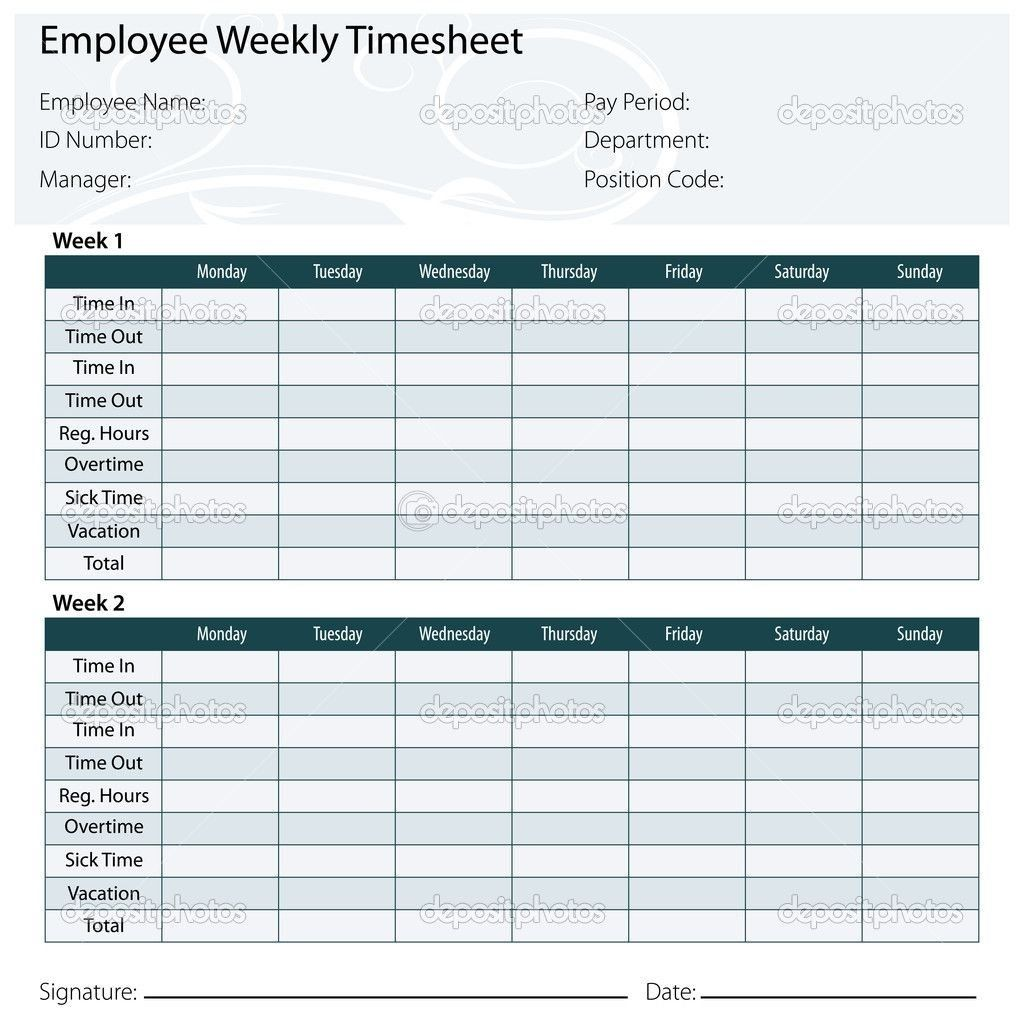 Free Printable Timesheet Templates Template Excel Inside Monthly 21847