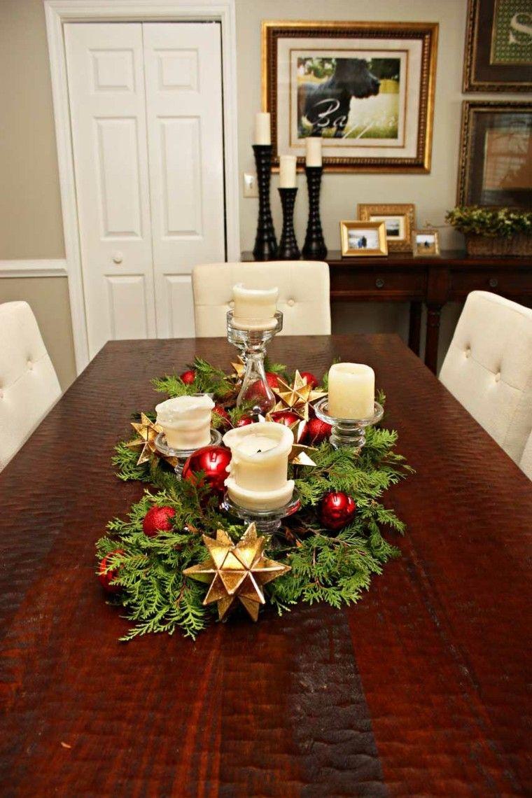 Centros De Navidad Con Velas 50 Ideas Geniales Navidad - Centros-de-navidad