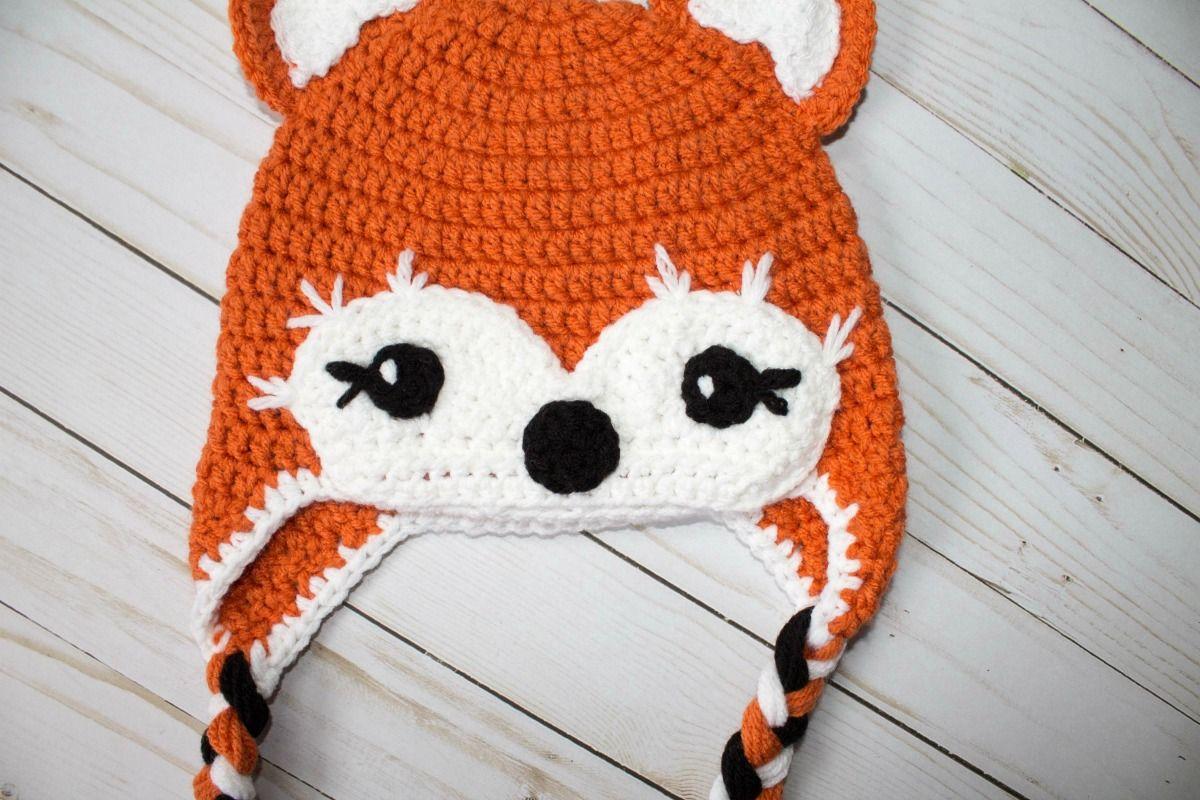 Free Crochet Hat Friendly Fox Crocheted Patterns Pinterest