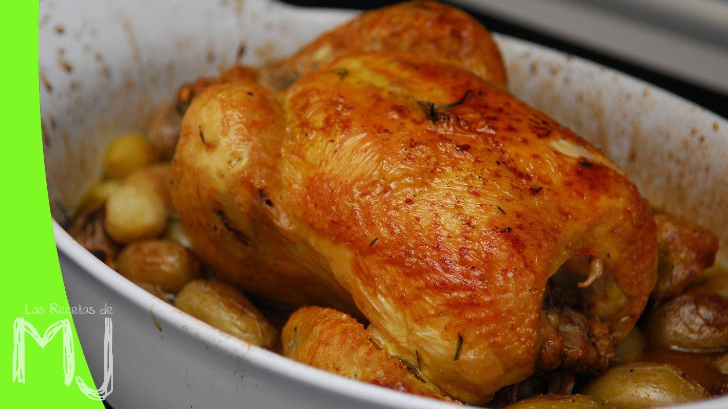 Pollo Al Horno Con Tomillo Y Romero Las Recetas De Mj Comidas Ligeras Comida Pollo De Corral Al Horno