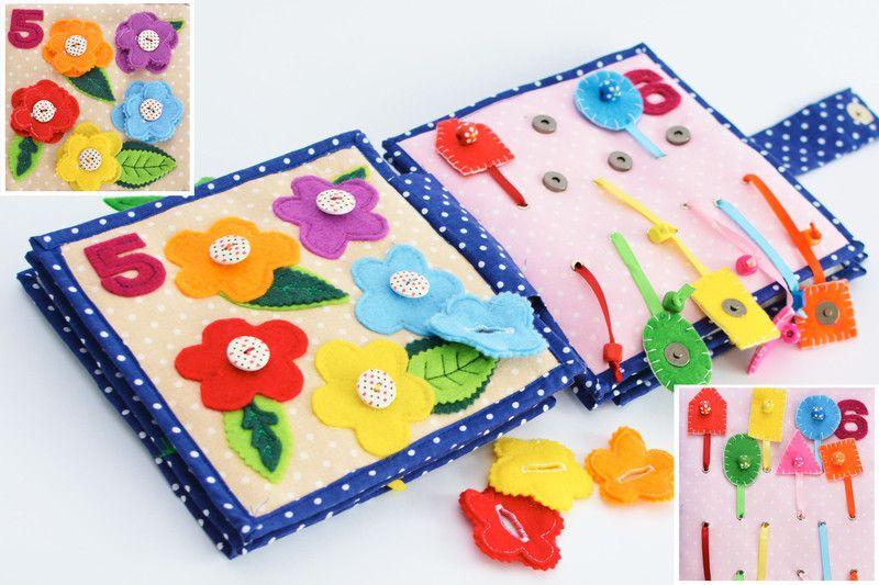 Ksiażeczka sensoryczna - CYFERKI - TwinkleStarHandmadeStudio - Zabawki zręcznościowe