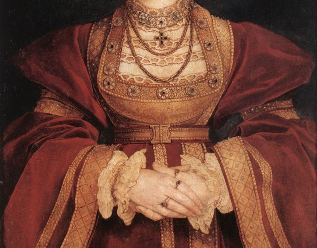 Anne of Cleves (detail) by Hans Holbein the Younger, 1539