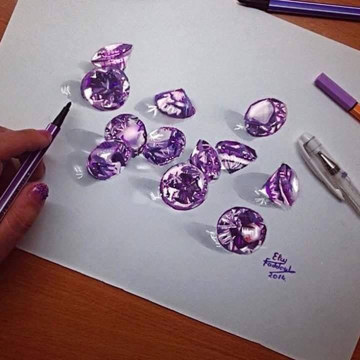 Diamonds | Pencil art, Realistic drawings, Art drawings