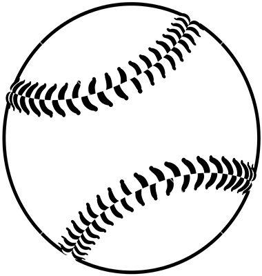 Baseball Vector Image On Vectorstock Baseball Vector Baseball Decals Baseball Theme
