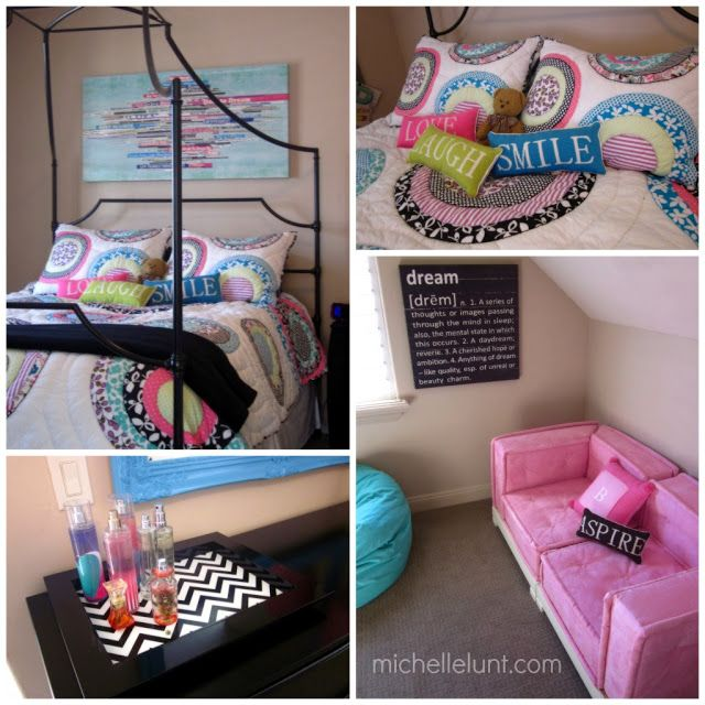 How To Paint A Mirror Frame & A Cute Room For A Cute Teen