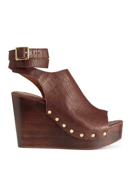 Sandalias de cuña de piel | Sandalias de cuero, Botas de XkIR6