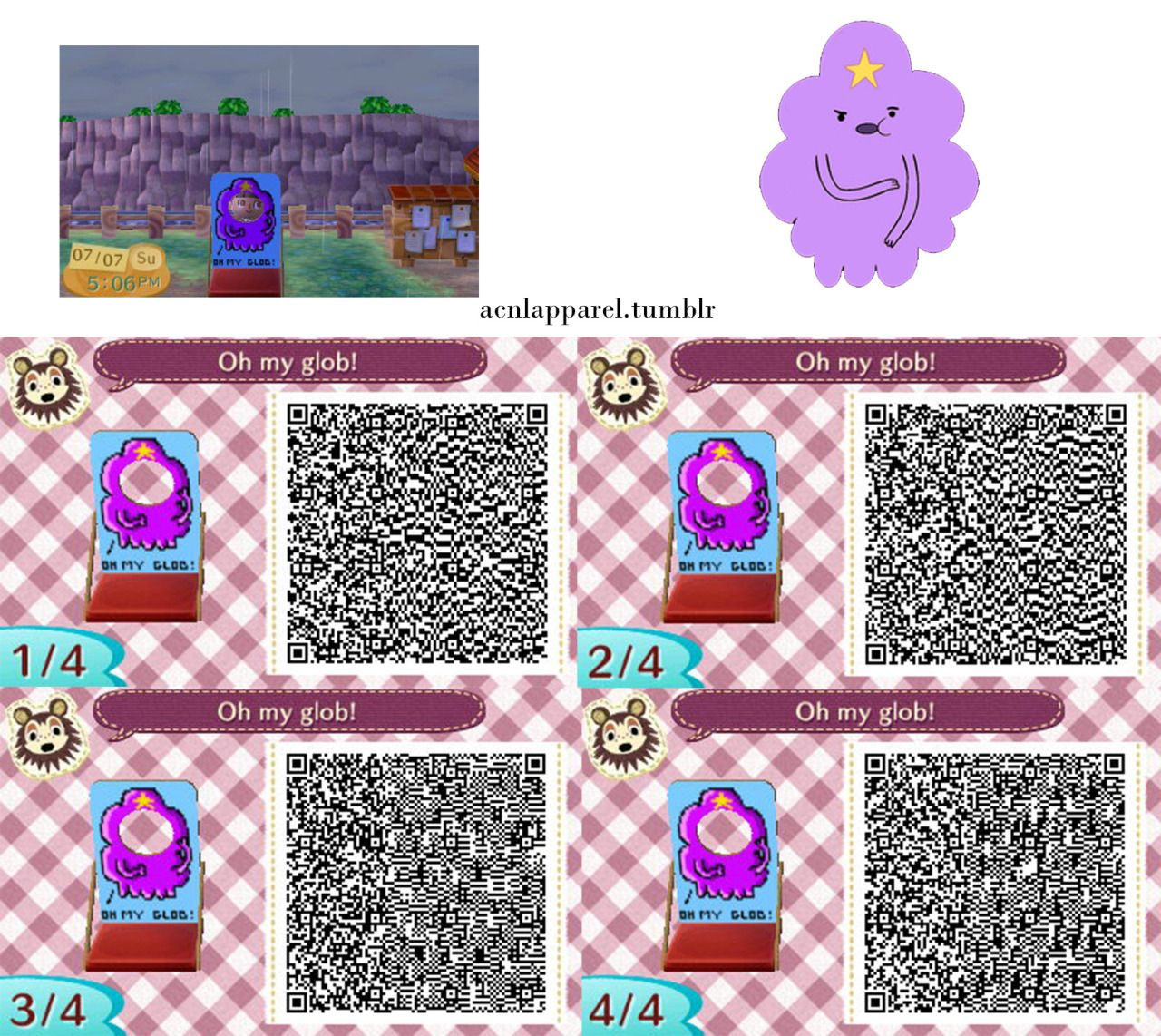Leather jacket qr code new leaf - Acnl Qr Code Oh My Glob Lumpy Space Princess Standee