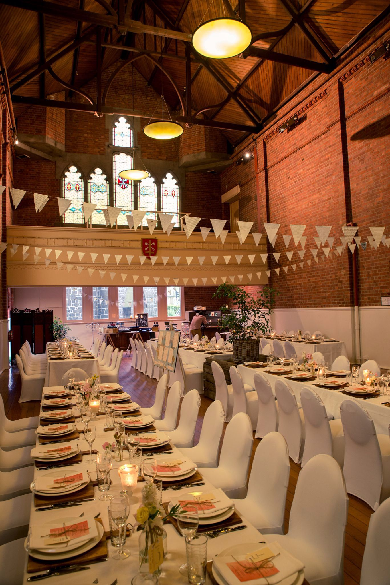 Real weddings Eastern Hill Dining Hall