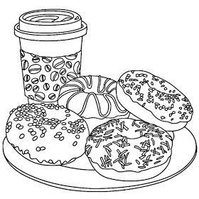 Riscos Graciosos Cute Drawings Cupcakes Sorvetes Bolos E Doces Cupcakes Ice Creams Cakes An Cute Coloring Pages Food Coloring Pages Free Coloring Pages