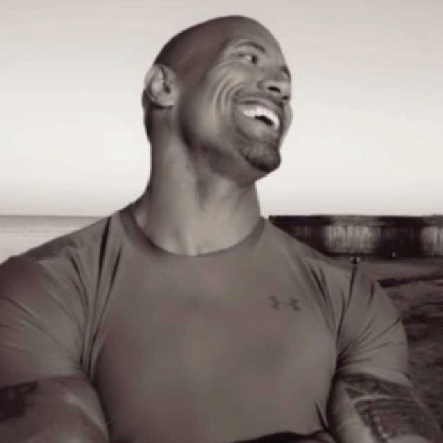 Dwayne Johnson aka The Rock.  ***swoon and sigh*** So, he is my next boyfriend if Kenny ever leaves me. So hot!