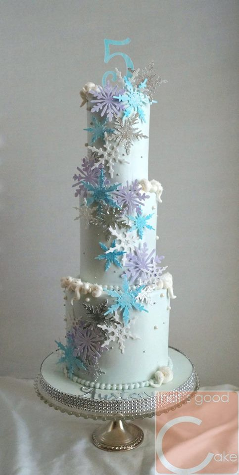 Frozen Ice Crystal Snowflake Cake Winter Wonderland Cake Frozen