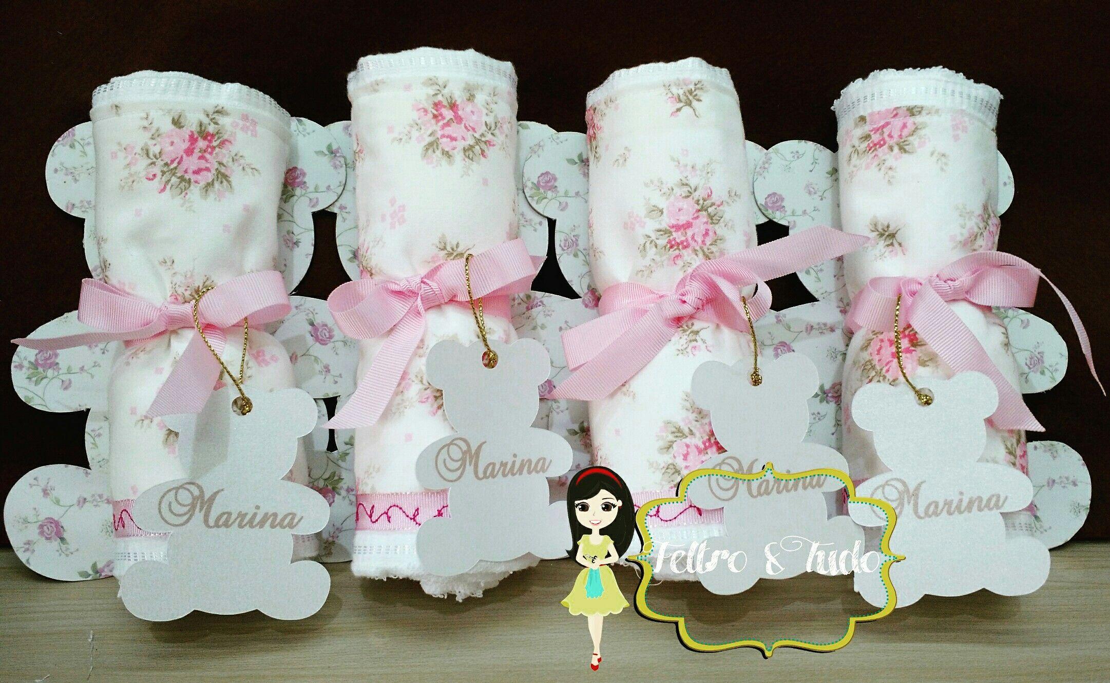 Lembrança de maternidade - toalhinhas personalizadas