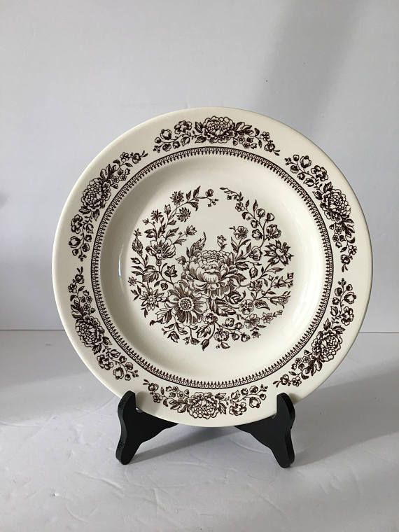 Royal China Replacement Dinner Plate in Sussex Pattern Beautiful Brown Botanical Anthropologie Style Cavalier Ironstone 10 Inch Plate | Pinterest | China ... & Royal China Replacement Dinner Plate in Sussex Pattern Beautiful ...