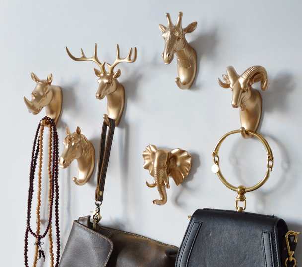 Modern Wall Hooks Animal Decorative Wall Hooks Handmade Coat