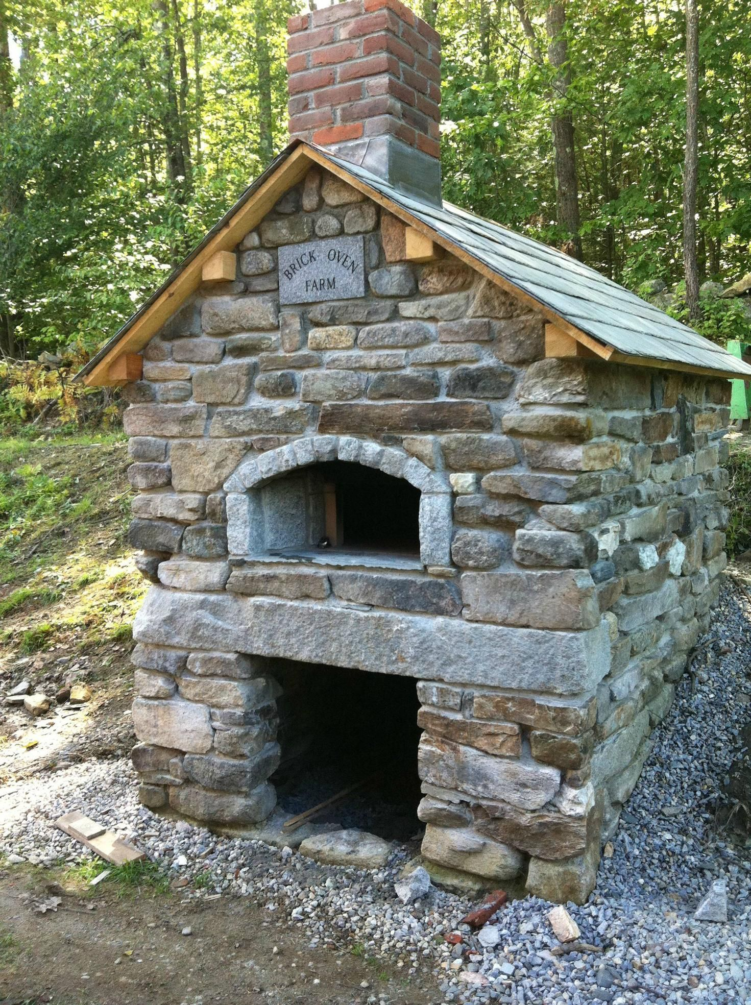A brick oven my fatherinlaw built for his organic farm