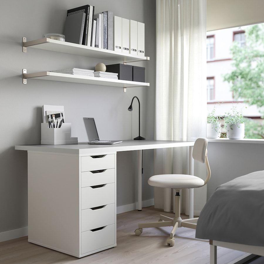 Linnmon Alex Tafel Lichtgrijs Wit 150x75 Cm Ikea In 2020 Grey Room Ideas Bedroom Ikea Grey Room