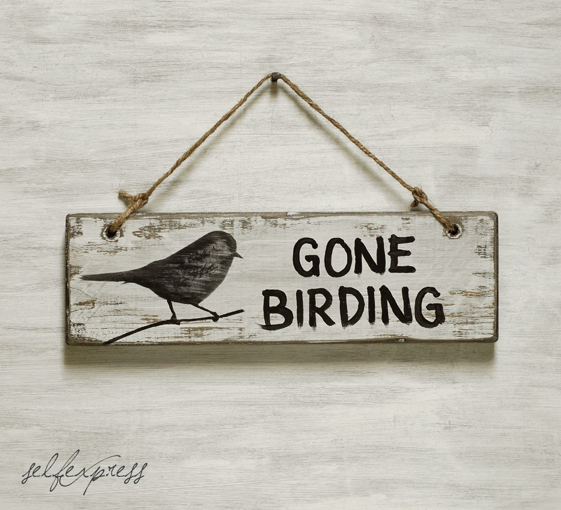 Image result for Gone BIrding sign