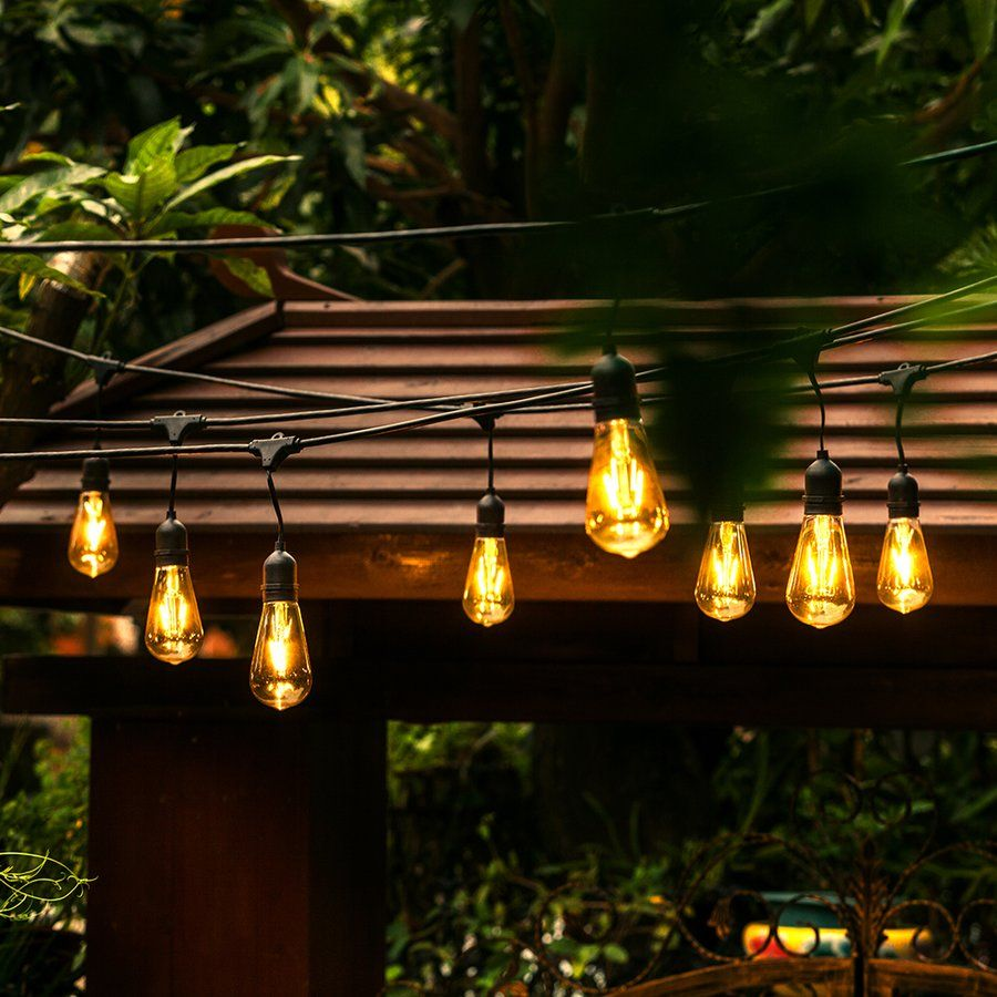 Wedding decorations black and gold  Light ft Globe String Lights  Wedding Decorations  Pinterest