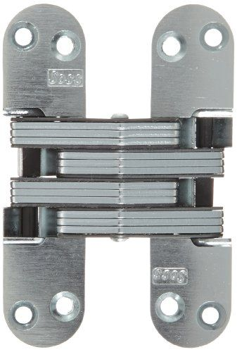 Soss Mortise Mount Invisible Hinge With 8 Holes Zinc Satin Chrome Finish 4 5 8 Quot Leaf Height 1 1 8 Quot Leaf Invisible Hinges Furniture Hinges Hinges