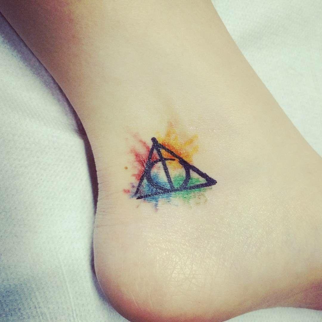 Mi Nuevo Tatuaje De Harry Potter Harrypotter Deathlyhallows Harrypottertattoo Harry Potter Tattoo Small Harry Potter Tattoos Tattoos