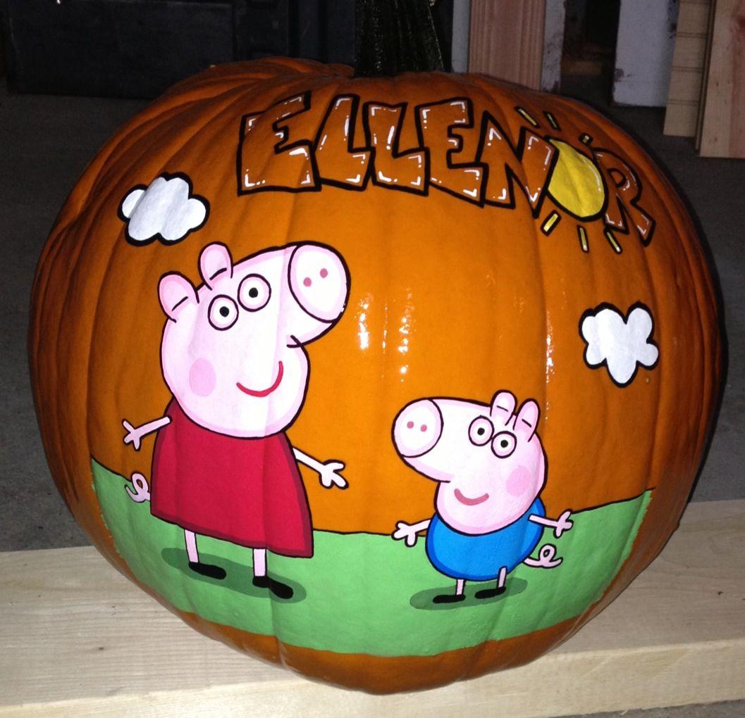 Peppa Pig & George pumpkin | Hand painted pumpkins 2012 | Pinterest