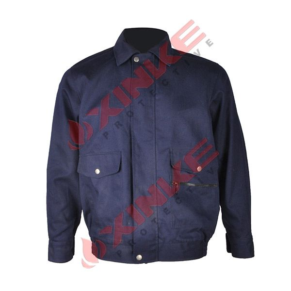 62d4fc405f66 Flame Resistant Jackets for Coal Mine Workwear Material 100% cotton  Weight 300gsm±5% Standard EN ISO 11611