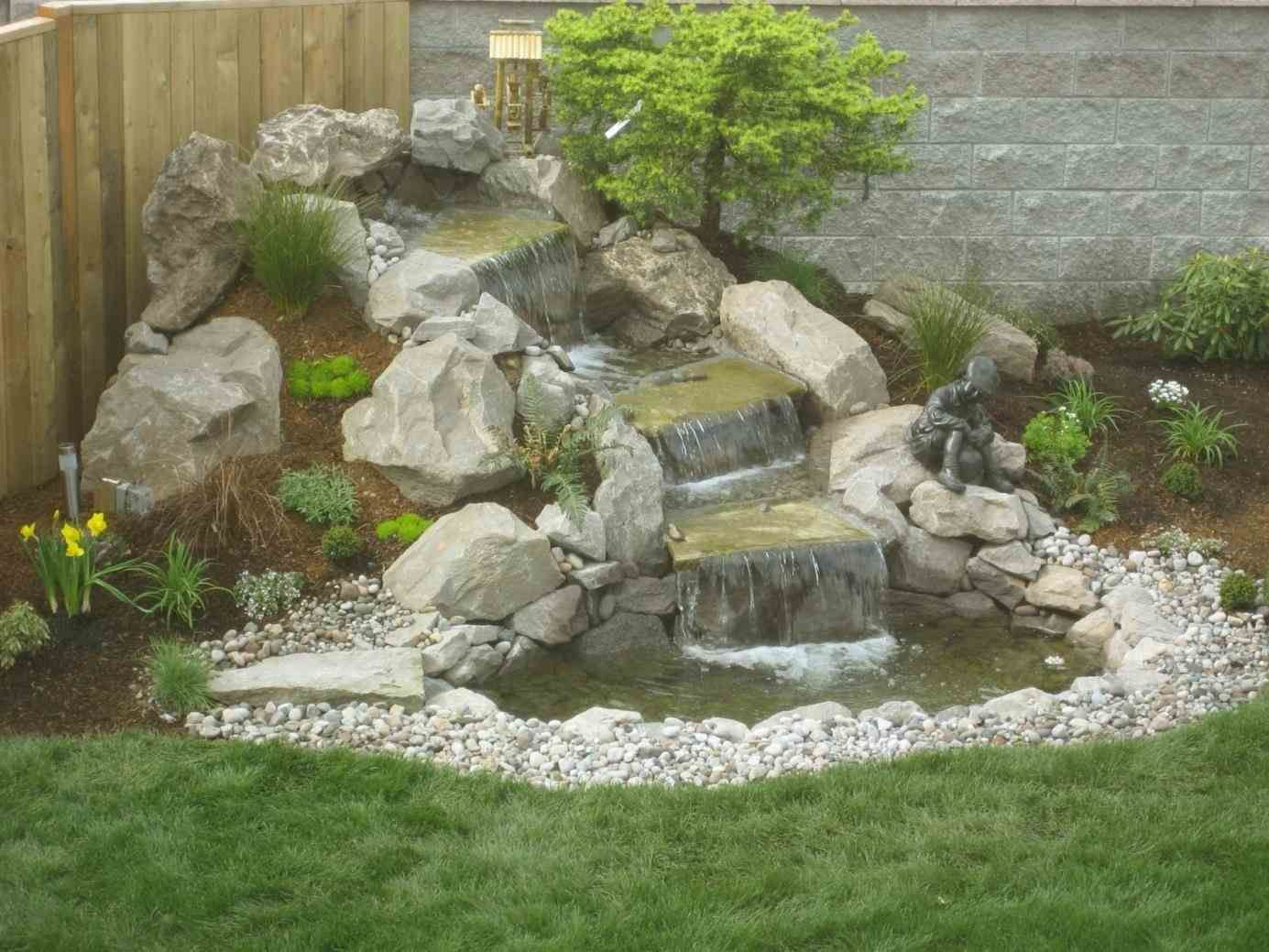 Stunning Landscaping On A Nurani Hillside Small Budget Steep Slope Landscapeonabudg Water Features In The Garden Waterfalls Backyard Waterfall Landscaping