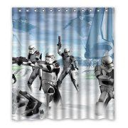 DEYOU Star Wars Stormtrooper Water Shower Curtain Polyester Fabric Bathroom Size 66x72 Inches