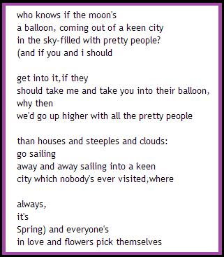 ee cummings balloon