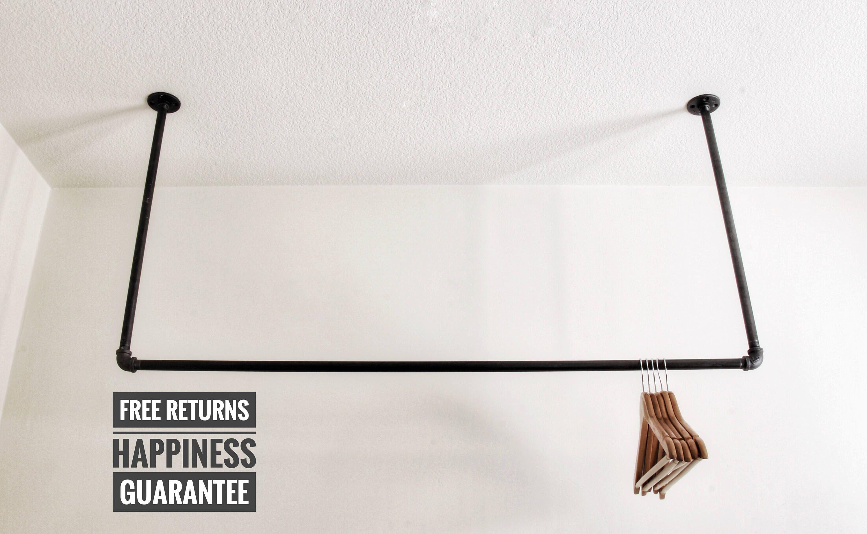 Ceiling clothing rack • Ceiling rack • garment rack • Industrial on