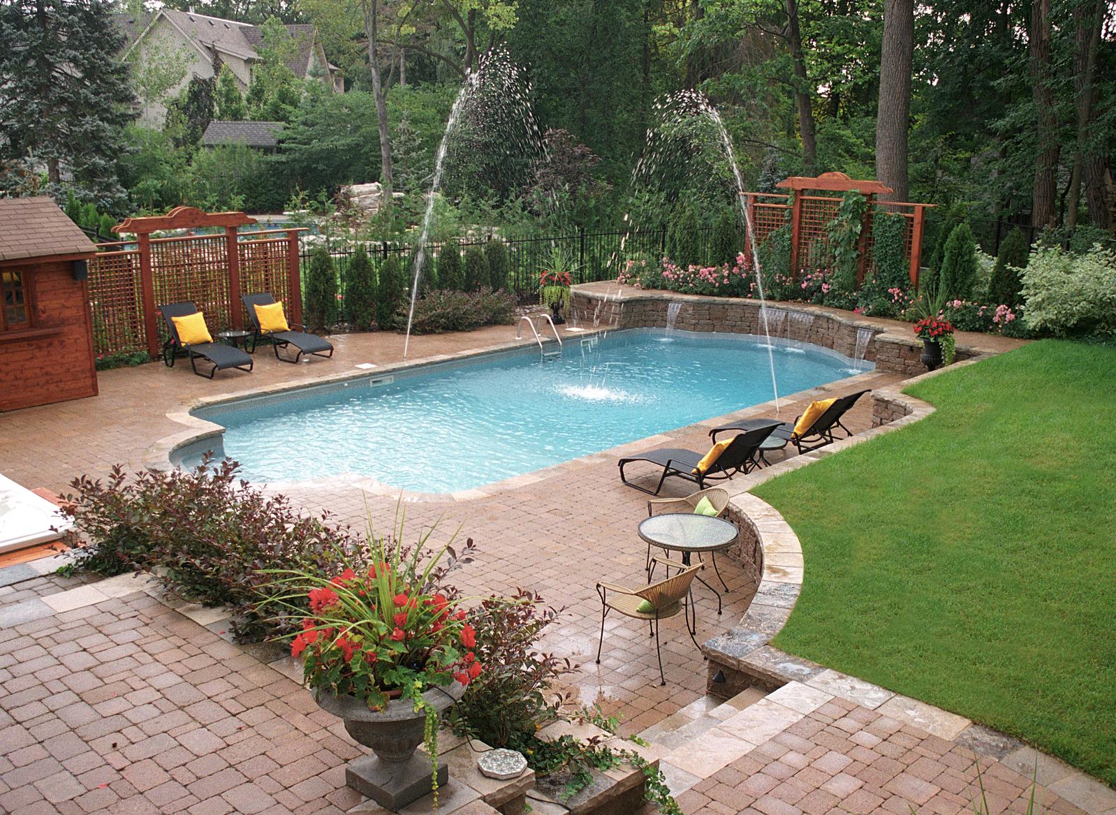 Roman Inground Pool Pioneer Family Pools Family Pool Pool Patio Inground Pools