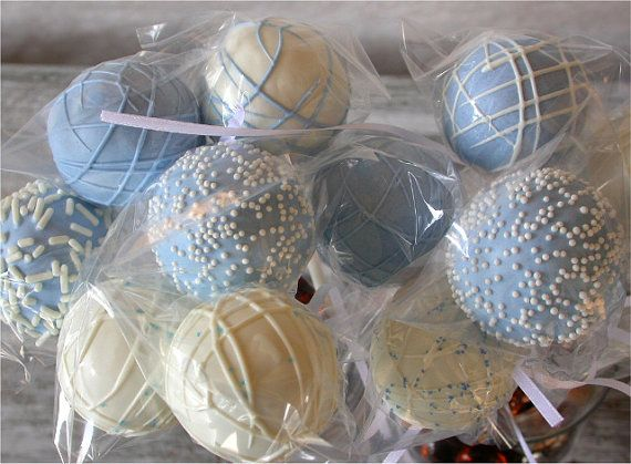 Baby Shower Edible Party Favors: Baby Boy Shower Cake Pops Made To Order  With All