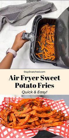 Easy Air Fryer Crispy Crunchy Sweet Potato Fries