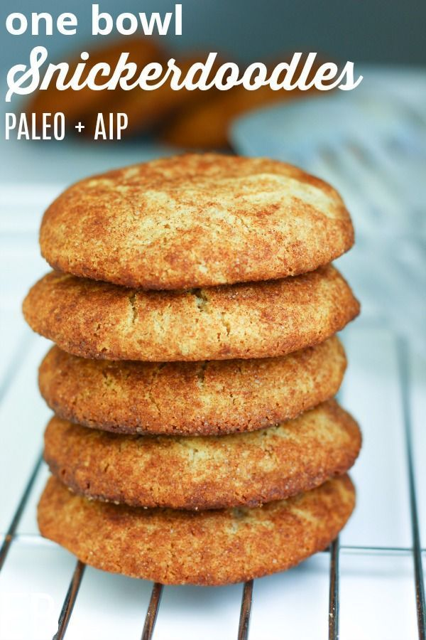 Super good We loved these cookies Paleo  AIP Snickerdoodles mix up in just one bowl Only 10 minutes to make and 10 minutes to bake  Eat Beautiful  tiger nut flour cookies...