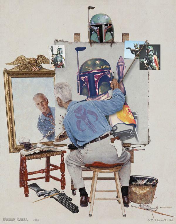 """""""Fett Portrait"""" by Kevin Liell"""